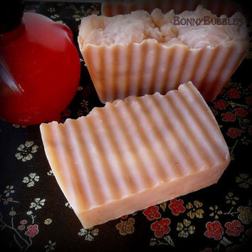 Hypnotic Poison dupe soap - rustic style savon - (Christian Dior type) -  Oriental, spicy sexy fragrance - hp