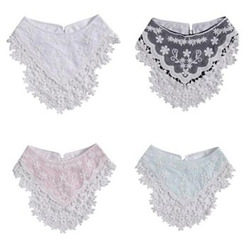 1pcs Lovely Infant Baby Girls Lace Triangular Tassel Bandana Saliva Dripping Bib Scarf Toddler Triangle Infant Saliva Towel