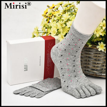 MIRISI Recommend !!women's five toe socks autumn-winter Colour the toe lady and women cotton fashion Colorful finger