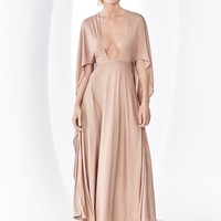 Valentino Cape Back Silk Jersey Dress | Nordstrom