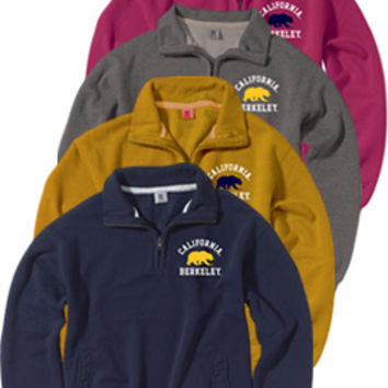 University of California Berkeley 1/4 Zip Pullover Sweatshirt | University of California, Berkeley