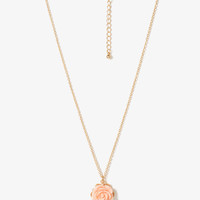 Pearlescent Rosette Charm Necklace | FOREVER21 - 1016420453