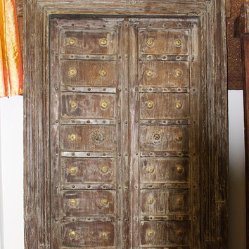 Indian Antique Entrance Doors Solid Wood Hand Carved Vintage Farmhousestyle Double Door With Frame Industrialfurniture