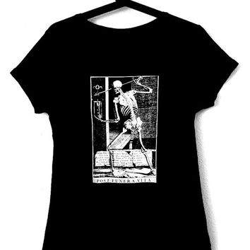 FUNERA T-Shirt for woman,occult,witchcraft,magick,art,skull,goth,death