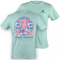 Simply Southern Prep Seahorse T Shirt -- Small