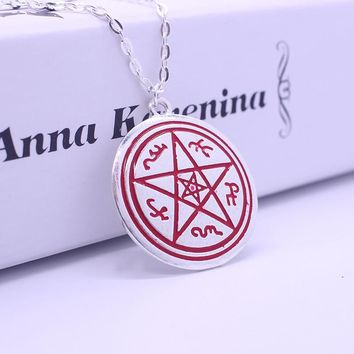 2016 New Arrival Statement  Retro Five-pointed Star Necklace Supernatural Protect Symbol Necklace Statement Pendants & Neckalces