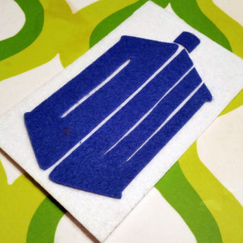 Tardis Inspired Adhesive Patch / Magnet- Doctor Who Sticky Felt Patch / Sticker