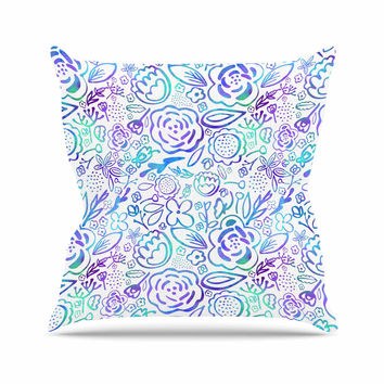 "Noonday Design ""Floral Explosion"" Floral Pattern Outdoor Throw Pillow"