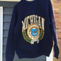 90s Vintage University of Michigan Sweatshirt
