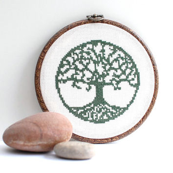 Cross stitch pattern , Counted crossstitch pattern Tree of Life , Silhouette pattern , embroidery pattern , modern cross stitch