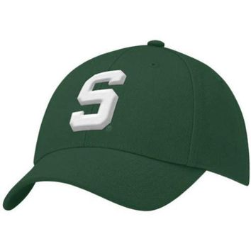 ESBON NCAA Nike Michigan State Spartans Youth Green Swoosh Flex Fit Hat