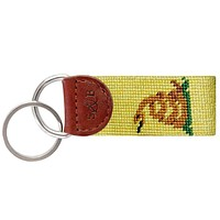 Gadsden Flag Needlepoint Key Fob in Yellow by Smathers & Branson