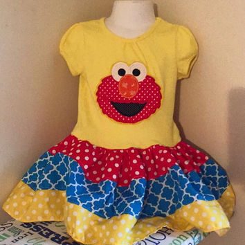 Sesame Street Elmo Appliqued T Shirt Dress Available from 12m to 14/16