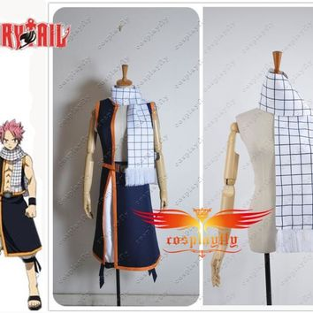 Free Shipping Hot Fairy Tail Natsu Dragneel Scarf Only For Cosplay Costume 150cm Length One Size In Stock