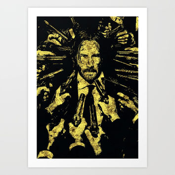 John Wick - The Legend Art Print by naumovski
