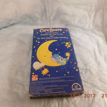Care Bear Bedtime Bear VHS Tape