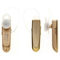 GoldMice Bluetooth 4.0 Headphone with Microphone, Echo Cancellation Noise Reduction, Compatible for Smart Phones and Tablets (Gold)