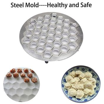 37Holes Dumpling Mould Tools Dumplings Maker Ravioli Aluminum Mold Pelmeni Dumplings Kitchen DIY Tools Make Pastry Dumpling
