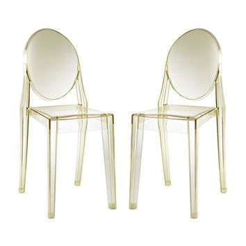 Casper Dining Chairs Set of 2 in Yellow