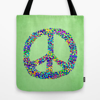 Peace Out Tote Bag by Shawn King
