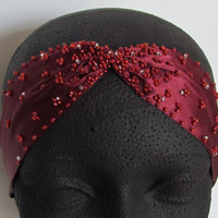 Beaded Headband, Art Deco Headpiece, 1920s Headband, Flapper Headband