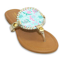 "Simply Southern Reversible Disc Sandal ""Turtle Friends"""