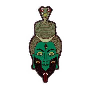 Shiva Magnet-Fridge Magnet-Indian Art Magnet-Art Magnet-Occult-Trippy Magnet-Psychedelic Magnet-Snake magnet-Kali magnet-Indian Goddess