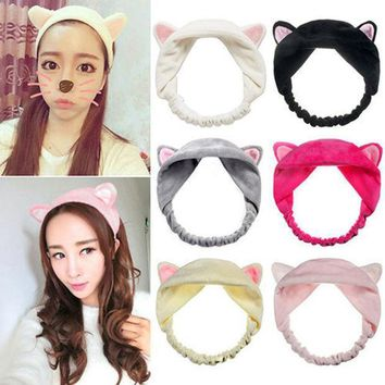 New Cute Soft Cartoon Cat Ears Headband Hairband Hair Head Band Party Gift Headdress Hair Accessories Makeup Tool Free Shipping