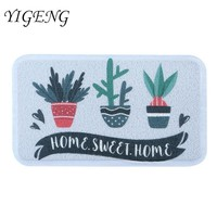 Autumn Fall welcome door mat doormat Bathroom Anti-Slip PVC s Kitchen Room Floor Cute Plant Printed Mats Rugs Living Room Floor Mats Kitchen Carpet Rug AT_76_7