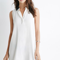 Contrast Collar Popover Dress