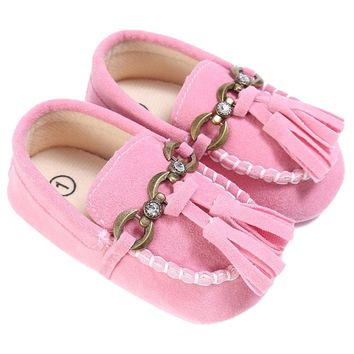 Baby Shoes Boat Style Baby Moccasins Toddler PU Leather Soft Sole Shoes For Girls Kids