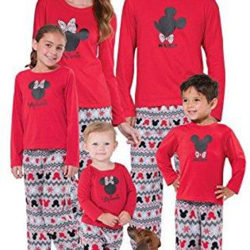 PajamaGram PajamaGram Mickey Mouse and Minnie Mouse Matching Family Pajamas, Red