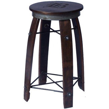 "24"" Daisy Swivel Stave Stool (Made from Wine Barrels)"