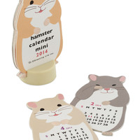 Year of the Critter 2014 Mini Calendar in Hamster | Mod Retro Vintage Desk Accessories | ModCloth.com