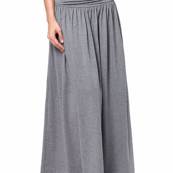 Skirts 2017 Women's High Waist High Stretchy Shirring Long Maxi Skirt With Pockets Retro Vintage 2017 Retro Skirt Vestidos Robe