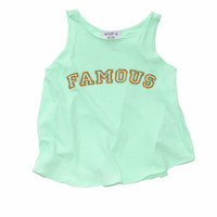 KIDS FAMOUS CASSIDY TANK at Wildfox Couture in  DAISY, MJLP