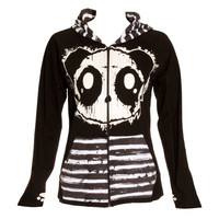 KILLER PANDA BY POIZEN INDUSTRIES RAW HOODIE (BLACK)