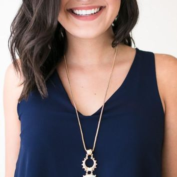 Crescent City Long Marble Necklace
