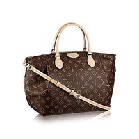 CHEN1ER LV Authentic Louis Vuitton Monogram Canvas Turenne GM Tote Bag Handbag Article: M48815