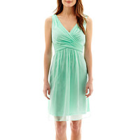Simply Liliana Sleeveless V-Neck Chiffon Fit-and-Flare Dress