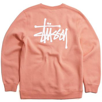 Basic Stussy SP18 Crewneck Sweatshirt Salmon