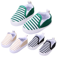 Baby Soft Bottom Walking Shoes Boy Girl Striped Anti-Slip Sneakers ::: Free Shipping!