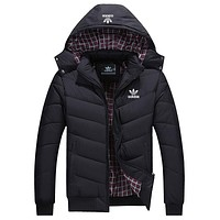 Adidas Women Men Fashion Hooded Cardigan Jacket Coat Windbreaker