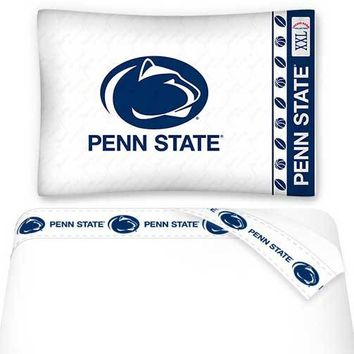 NCAA Penn State Nittany Lions Bed Sheets Set College Bedding