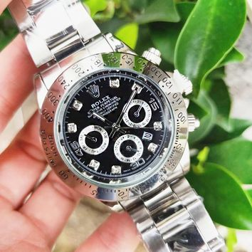 Rolex Classic Fashion New Movement Watch Business Wristwatch Women Men Watches Silver