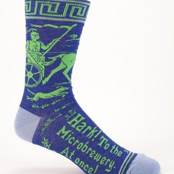 Hark! To The Microbrewery, At Once! Men's Crew Socks