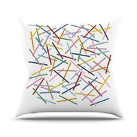 Kess InHouse Project M Sprinkles Throw Pillow, 16 by 16-Inch