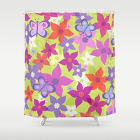 happy garden Shower Curtain by Juliagrifol Designs