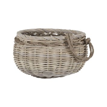 Sumbawa Natural Rattan Basket - Small Natural Rattan,Grey