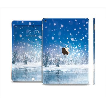 The Frozen Snowfall Pond Skin Set for the Apple iPad Air 2